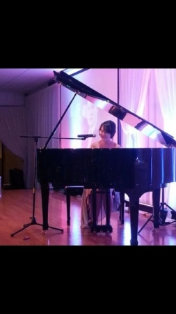 Performing for a wedding