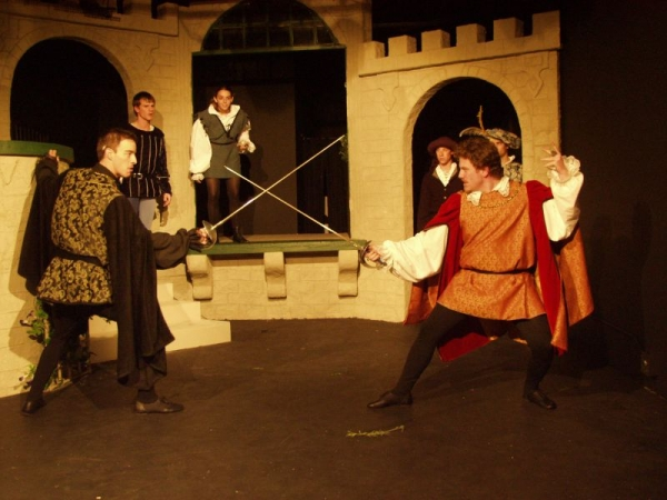 As Tybolt from a production of Romeo and Juliet.