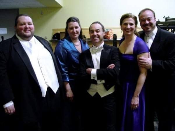 Backstage at Benaroya Hall after a performance of Mozart's Mass in C minor as Tenor Soloist.