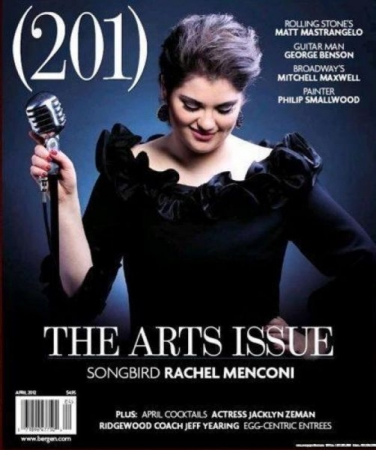 """Songbird"" Rachel was honored to be chosen not only for a featured article but the cover of the (201) Magazine: The Arts Issue!"