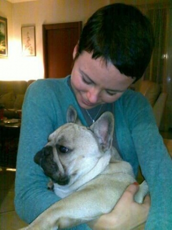 I love pets! This is Rocco, my beloved French bulldog.