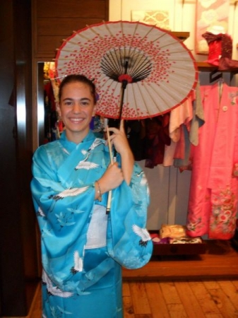 "Practice and immersion make perfect! Did you know that ""kimono"" is written with the Japanese characters for ""wear"" and ""thing""?"