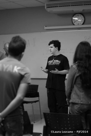 Teaching a class in the Panama Jazz festival 