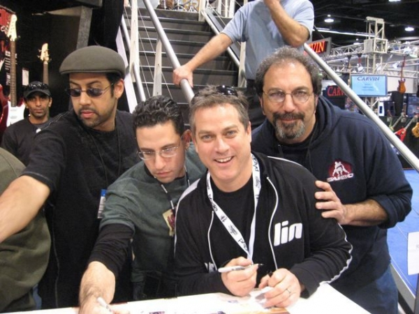Yamaha Drums Artists Signing Event NAMM with Antonio Sanchez, Andres Forero and Jerry Marotta