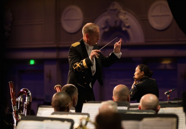 Soloing with The U.S. Army Field Band at the 2014 National Association for Music Educators conference in Nashville, TN.