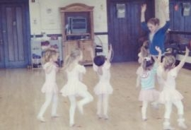 Teaching pre-ballet at the Batavia Academy of Dance.