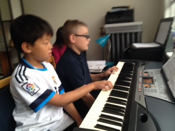 Duet time! Niko (8) and Andrew (8)
