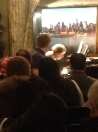 At Steinway Hall, NYC, 11/30/14.  Playing 2-piano Mozart.