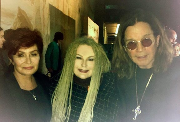 Red carpet event with Sharon and Ozzy Osbourne.