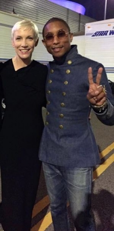 at the 2015 Grammy's with Multi-Grammy winners Annie Lennox and Pharrell Williams