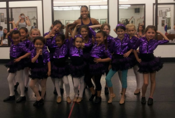 One of my jazz 1class age 5-8yrs old