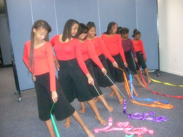 A group of praise dancers I choreographed for, for 6yrs.