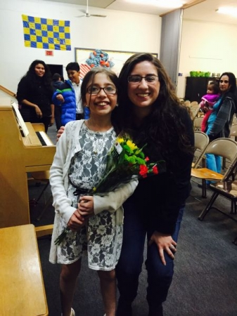 My student and I at her first orchestra concert! She was awesome!