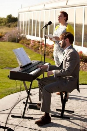 "Performing the Beatles ""I will"" at a wedding ceremony, 2014."