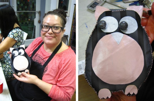 Fun Sewing Projects- A Leather Owl Cell Phone Case!