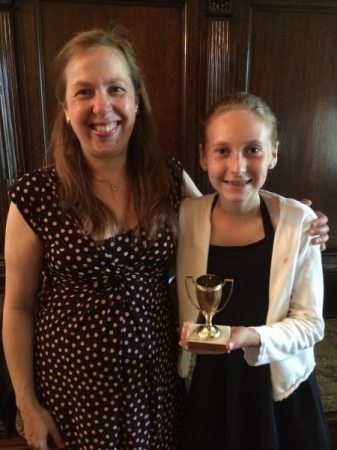 Here I am with one of my students who just received a Gold Cup from the Schubert Club's Young Musicians Festival!