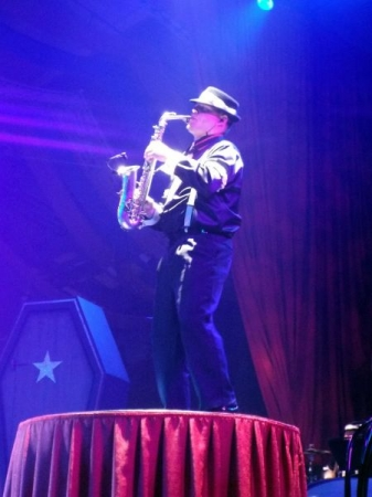 Me performing a Sax Solo for Busch Gardens Williamsburg at Howl-O-Scream!