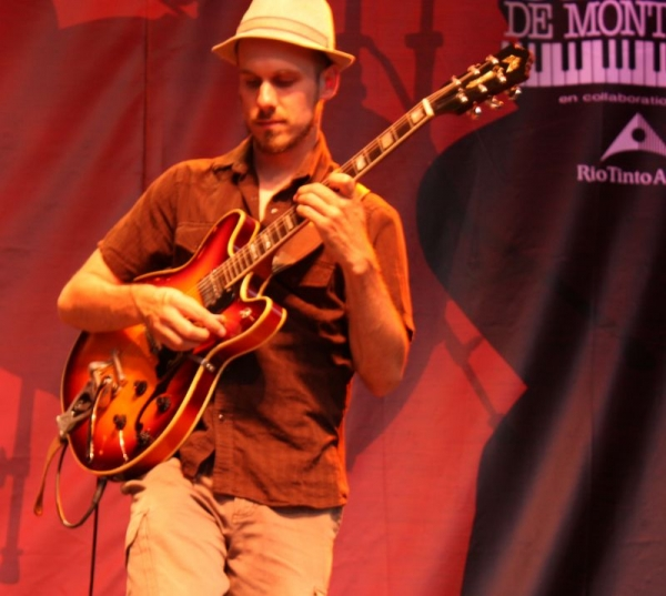 At the Festival International de Jazz de Montréal with Jesse Dee.