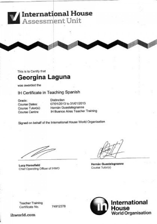 IH Certificate in Teaching Spanish