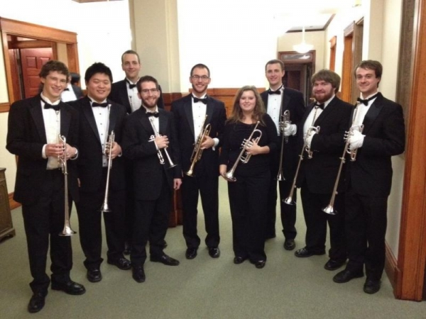 Christmas at DePaul! Herald trumpets!!