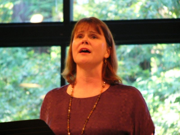Ruth singing the Berg Sieben Frühe Lieder in Portola Valley, California.