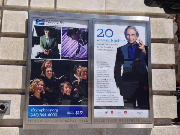 I made the San Francisco Symphony marquee! That's me in the back of the Chorus photo :)