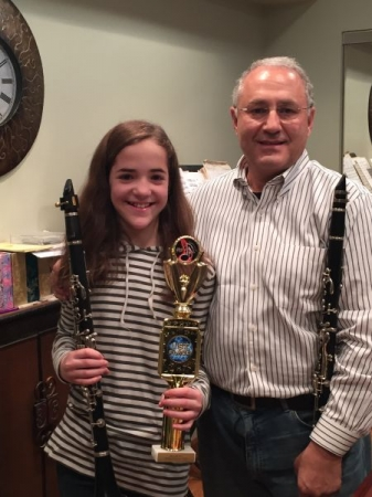 Winner of '15 MAMTG, '15 & '16 North NJ Regional Symphonic Band Auditions,1st chair.
