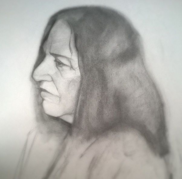 Roberta (2014) -  charcoal on paper