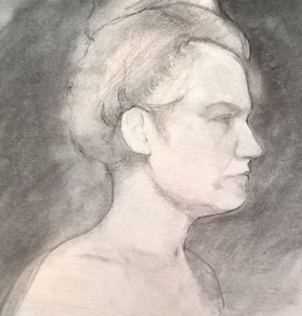 Gaze (2014) - pencil and charcoal on paper