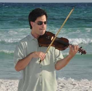 Casual Violin Beach Wedding near Destin, Florida