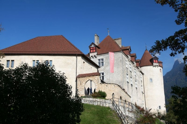 The Castle of Gruyères, located in the medieval town of Gruyères, Fribourg, is one of the most famous in Switzerland.
