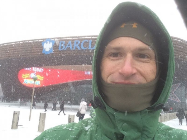 Here I am outside the Barclay Center in Brooklyn, NY before a performance of Circus Extreme