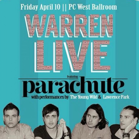 On April 10, 2015 Lawrence Park opened for the world famous band Parachute at UCSD.