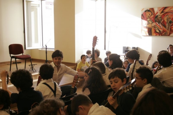 With my guitar students at AMVP Conservatory  - Spring concert
