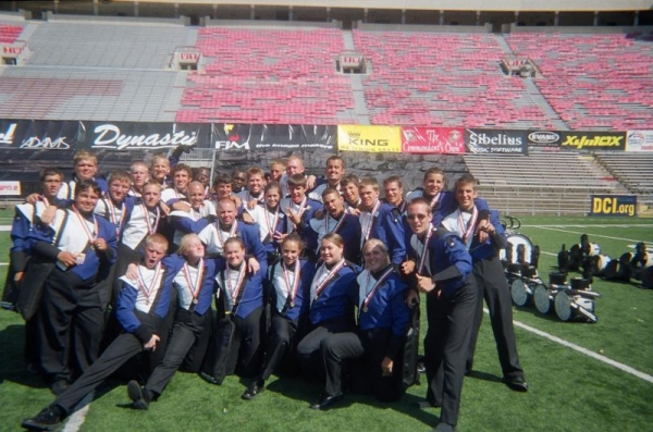 The awesome percussion section I marched with in Memphis 2006