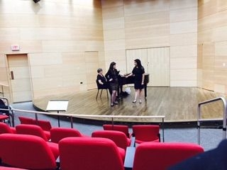 Working with a young singer in a Master Class at Loyola University -- March 2015