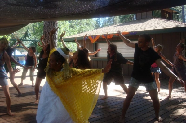 Instructing a dance workshop at Worldfest -a multi cultural festival in Grass Valley, CA...2006-2015