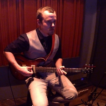 "Recording ""Angel Eyes"" at Maverick Lane Studios - Temecula, CA."