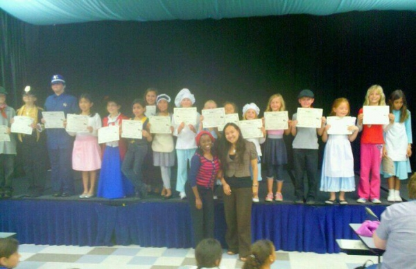 "Niketa with her students at the End of the year production of ""Marry Poppins"""