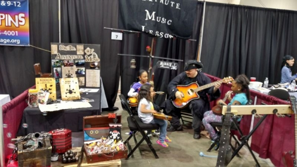 Willy teaching some kids at the Forsyth Family Expo dressed like a pirate! What a Blast!