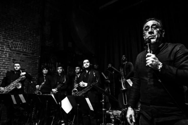 W/ the New School Afro-Cuban Jazz Ensemble directed by Grammy nominated percussionist Bobby Sanabria at the Nuyorican Poets Cafe in NY
