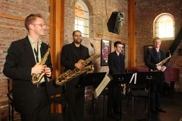 Performing with the Corporeal Saxophone Quartet at the MERC in Temecula, CA