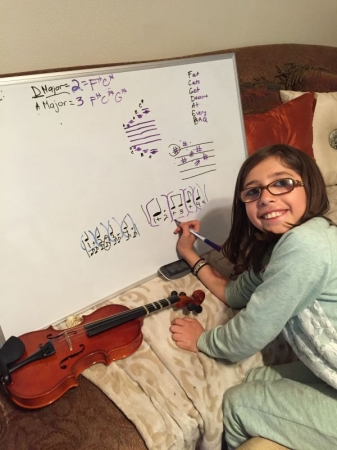 Today Suzette learned about Key Signatures, Subdividing, & the Circle of Fifths!