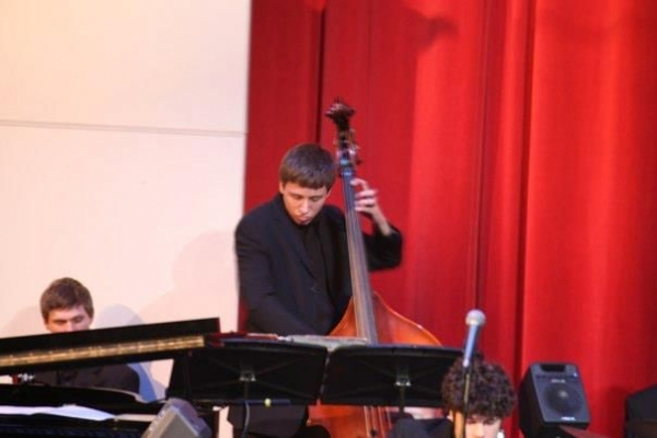 Playing with the St. Charles North Jazz Workshop at the Jazz Showcase in Chicago, IL