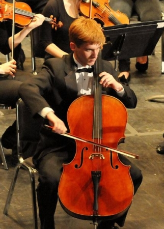 Performing Camille Saint-Saëns' Cello Concerto in A minor with the Greater Bridgeport Youth Orchestras.
