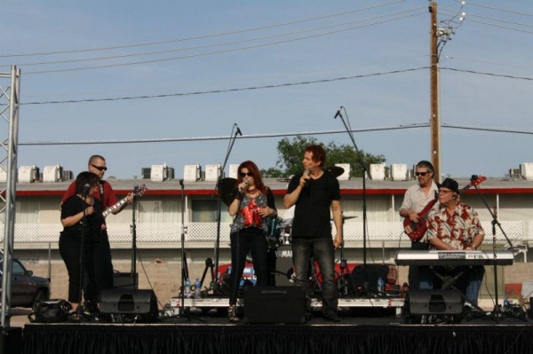 "Coren and Ren Zai with their Blues Band ""Blue Rain"" at UNLV Humanitarian Festival 2013"