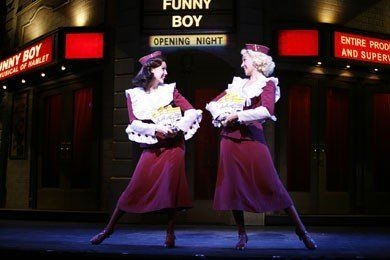 "Students Annette Simmonds and Gail Bennett in the Vegas Production of ""The Producers"" at the Paris Casino"