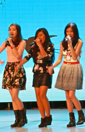 Students Sistarz I trained them to sing harmony and did the vocal arrangements  performing a Chinese TV show  in this pix