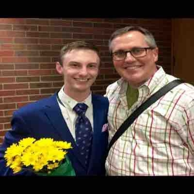 My voice teacher for the past 3 years, Randolph Lacy, and I right after my Graduate Recital. (May 2, 2015)