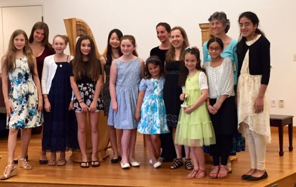 This is at the end of our annual recital - I am pictured with some of my  students who performed that day
